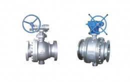 Cast Steel Trunnion Ball Valve Picture 1