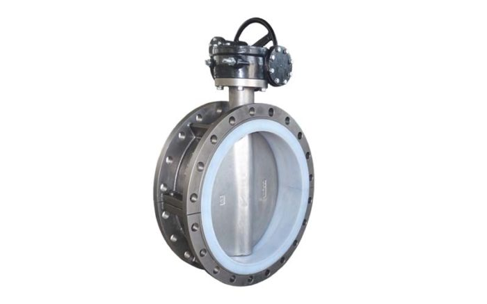 PTFE Lined Butterfly Valve Picture 2